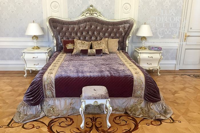Спальня. Плюш Albert Guegain и ручная вышивка